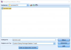 Screenshoot Process Installation Auswahl der Datei