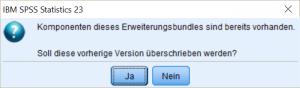 Installation SPSS-Ergänzung Überschreiben der alten Datei