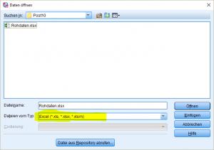 SPSS Öffnen einer Excel-Datei